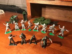 Vintage 1960s Marx Warriors Of The World And British War Toys