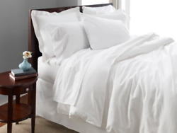 1888 Mills Oasis Queen Size Flat Sheet White Color