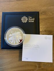 2019 Royal Mint Lunar Year Of The Pig Five-ounce Silver Proof Coin Coa006