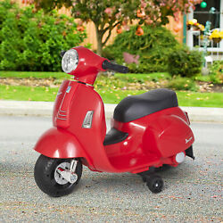 Homcom Vespa Licensed Kids Ride On Motorcycle 6v Battery Powered Electric Toys