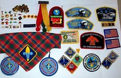 Cub Scout Webelos 50-piece Lot Of Pins Patches Scarf Activity Badges