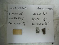 Hammer Axe Handle Wood And Steel Wedges New Total Of 9