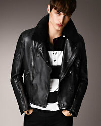 Brit Iconic Quilted Shearling Leather Jacket - Size L - Prorsum Ss11