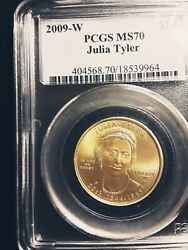 Rare, Ms 70 Julia Tyler First Spouse 10 Gold Value 2300
