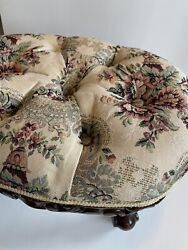 Beautiful French Gobelins Reproduction Tapestry Stool Great Condition