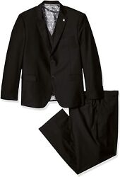Stacy Adams Menand039s Big And Tall Bud Big And Tall Vested Slim Fit Suit