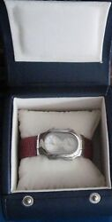 Watch With Dual Time Zones Philip Stein Water Resistant  Red Band Box