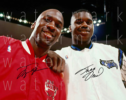 Shaquille Oand039neal Shaq Michael Jordan Signed 8x10 Inch Photo Picture Poster Rp