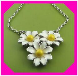 Brighton Daisy Chain Sunny Day Triple White Yellow Flower Necklace Nwotag