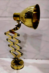 New Antique Oceania Ship Stretchable Polished Brass Nautical Wall Lamp Lot Of 10