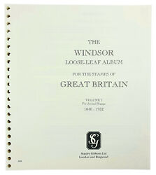 Stanley Gibbons Windsor Gb Printed Pages With A Binder Option - Popular Gb Album