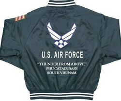 Phu Cat Air Base Vietnam Usaf Satin Jacketembroidered 1-sided Back Only