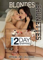 Blondes V Brunettes 2021 Calendar- Fully Nude Best Selectionfree 2 Day Shipping