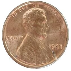 1982 P One Cent Lincoln Penny Large Date Error Ddo Ddr