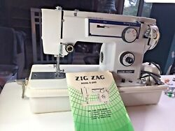 Rare Vintage Sewing Machine Electro Hygiene E-399 With Foot Control Case Zig Zag