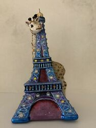 Jay Strongwater Glass Eiffel Tower And Giraffe Christmas Ornament