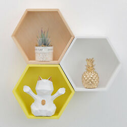 Hexagon Container Dorm Storage Organizer Decoration Shelf Modern Useful