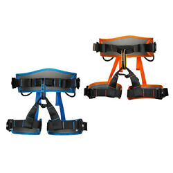 2pcs High Strength Outdoor Rock Tree Climbing Rappelling Safety Belt Sit Harness