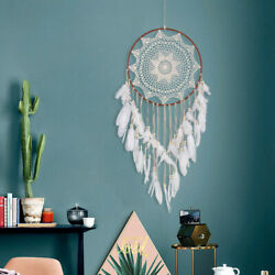 43quot; White Large Handmade Dream Catcher Feathers Hanging Dreamcatcher Home Decor