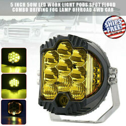 5 Inch 50w Led Work Light Pods Spot Flood Combo Driving Fog Lamp Offroad 4wd Car