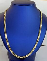 10k Yellow Gold 29andrdquoand039 Inch 6.mm Miami Cuban Link Chain Boys Teen Menand039s Jewelry
