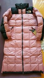 The Womenand039s Lhotse Duster Down Coat Jacket Size S Nwt Mesa Rose Pink