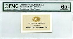 Czechoslovakia State Bank 50 Hellers 1981 Pick Unlisted Prison Voucher 750