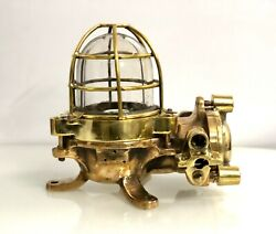 Old Antique Ship Brass Daeyang Nautical Bulkhead Ceiling And Wall Light Lot Of 10
