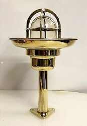 Old Antique Ship Nautical Long Brass Bulkhead Wall Light With Shade Lot Of 10