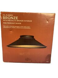 Mini Pendant Shade Oil Rubbed Bronze With Metallic Bronze Interior Shade Only