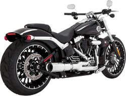 Vance And Hines Chrome 2 - 1 Exhaust System 08-17 Harley Rocker Softail Breakout