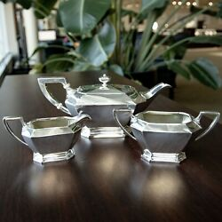 Vintage Durgin Fairfax Smith-patterson Co Sterling Silver Tea Set