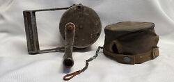 Vtg Wwii Federal Electric Co Army Military Air Raid Siren With Original Case