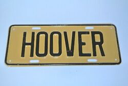 1928 Or 1932 Herbert Hoover Tan And Black License Plate Topper Mint Condition