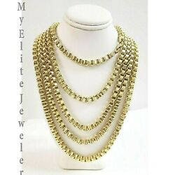 Mens 10k Yellow Gold Byzantine Chain Necklace 18- 30 Inch 5mm Best Selling Item