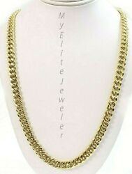 10k Gold Cuban Curb Chain 18 Inch 6 Mm Box Lock Yellow Gold Strong, Real