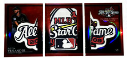 Justin Verlander 2009 Topps Triple Threads Entire All Star Game Patch 1 Of 1