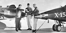 Scott Crossfield Giving Keys To Neil Armstrong 1961 Old Aviation Photo
