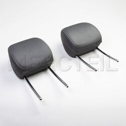 2 X New Genuine Mercedes Benz Amg W205 C-class Front Seat Head Rests A2059707250