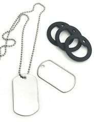 500 Shiny Stainless Steel Dog Tags, 24 Ball Chain Necklace, Silencer Repair Kit