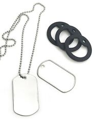 500 Matte Stainless Steel Dog Tags, 24 Ball Chain Necklace, Silencer Repair Kit