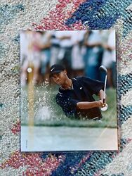 1997 Topps Golf Tiger Woods Photo 8 X10and039s Rookie The Masters Collection Us Open