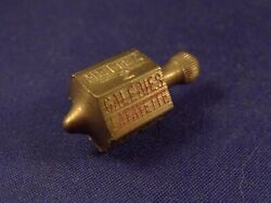 Vintage Rare Game Toy Brass Spinning Top Coffee Galeries Lafayette Paris 1930