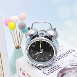 1pc Ring Bell Clock Practical with Night Light Small Clock for Hotel