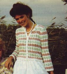 Cool Color Combination Ladies Cardigan Knitting Pattern Instructions
