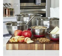 Viking 10-piece Stainless Steel Mixing Prep And Serving Bowl Set Non-slip Bowl