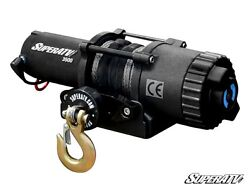 3500 Lb. Synthetic Rope Atv And Utv Winch -with Wireless Remote