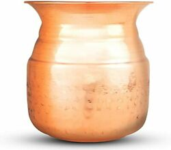 Copper Hammered Design Lota For Drinking Water Handmade