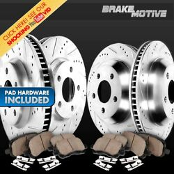 Front+rear Brake Rotors And Ceramic Pads For 2005 2006 F250 F350 2wd Super Duty