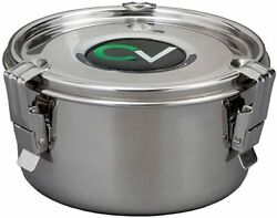 Cvault Stainless Steel Humidity Control Stash Container For Herbs, Spices W/...
